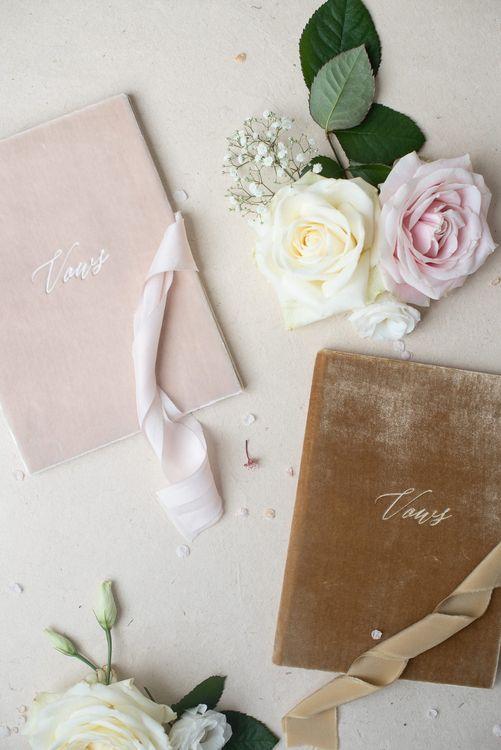 Elmo Paper Stories Vow Books | Super Luxe White, Grey & Gold Elegant Wedding Inspiration at Orangery, Holland Park, Kensington, London | Planned & Style day The Events Designers | Eva Tarnok Photography