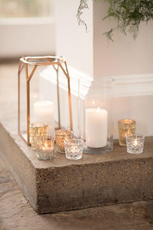Lanterns & Candle Light Wedding Decor | Super Luxe White, Grey & Gold Elegant Wedding Inspiration at Orangery, Holland Park, Kensington, London | Planned & Style day The Events Designers | Eva Tarnok Photography
