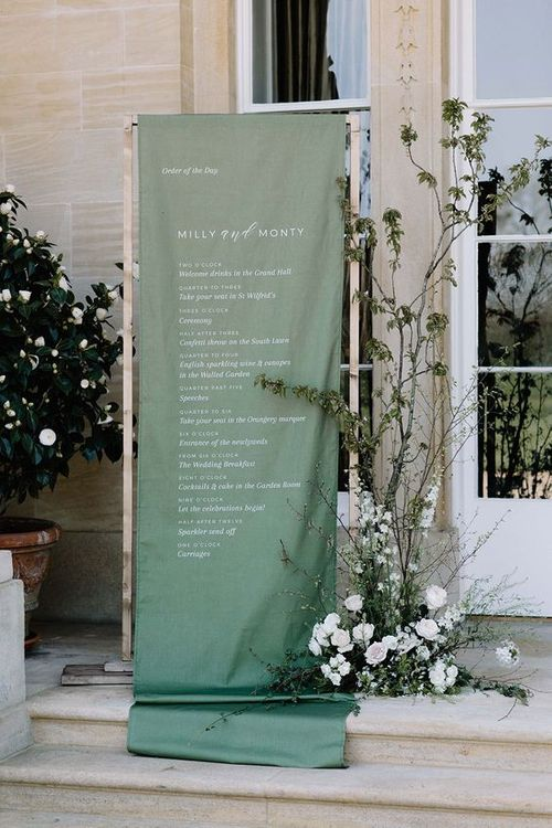Linen Order Of The Day Sign By Bureau Design // Image By Rebecca Goddard Photography