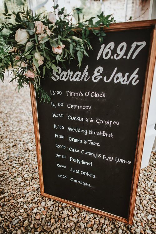 Chalkboard Order Of The Day Sign // Image By Dan Ward Photography