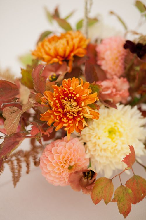Wedding Flowers in Autumnal Shades