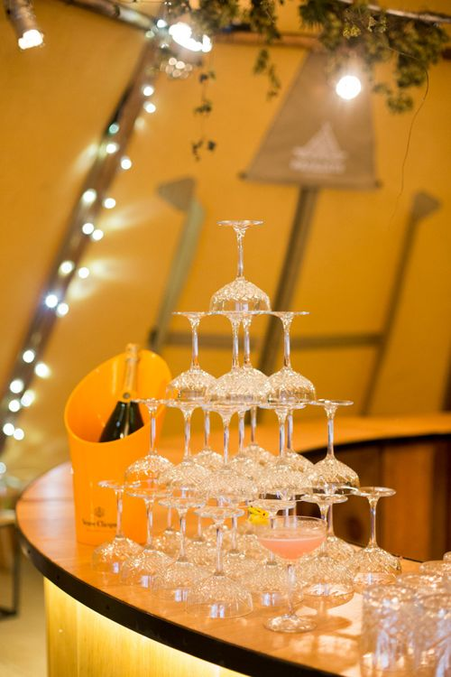 Coupe Champagne Glass Tower