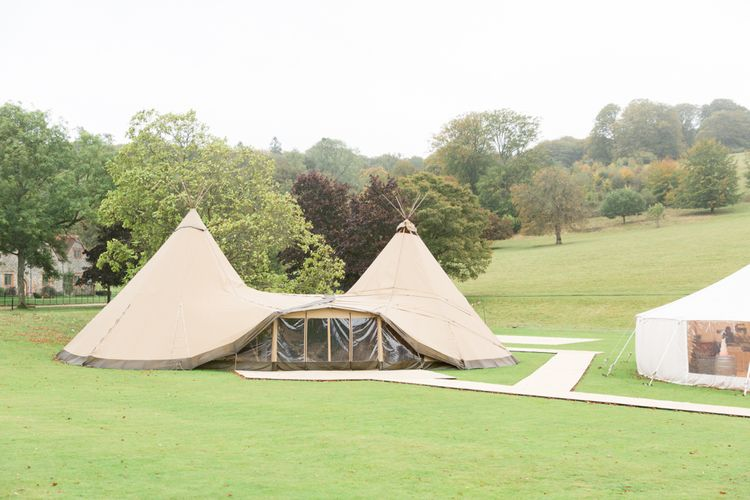 PapaKata Sperry Tent and Tipi Receptions at Stonor Park Country House Wedding Venue in Oxfordshire