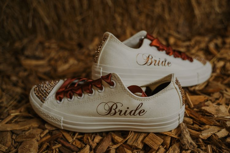 Customised Converse Wedding Trainers
