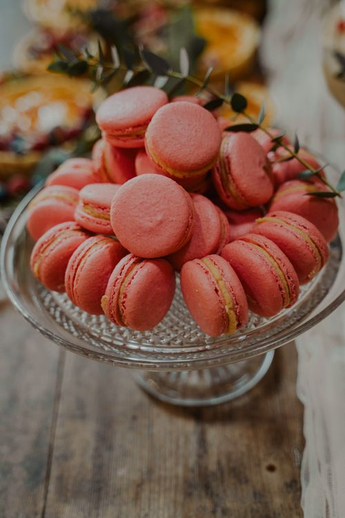 Pink Macaroons for Dessert Table