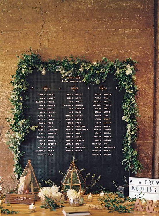 Peg Board Table Plan For Wedding // Image By Ann Kathrin Koch