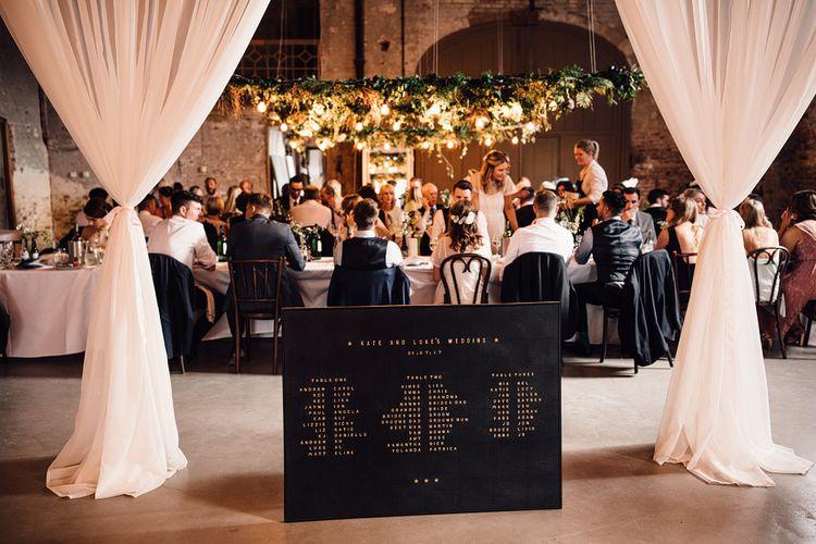Peg Board Table Plan For Wedding // Image By Samuel Docker Photography