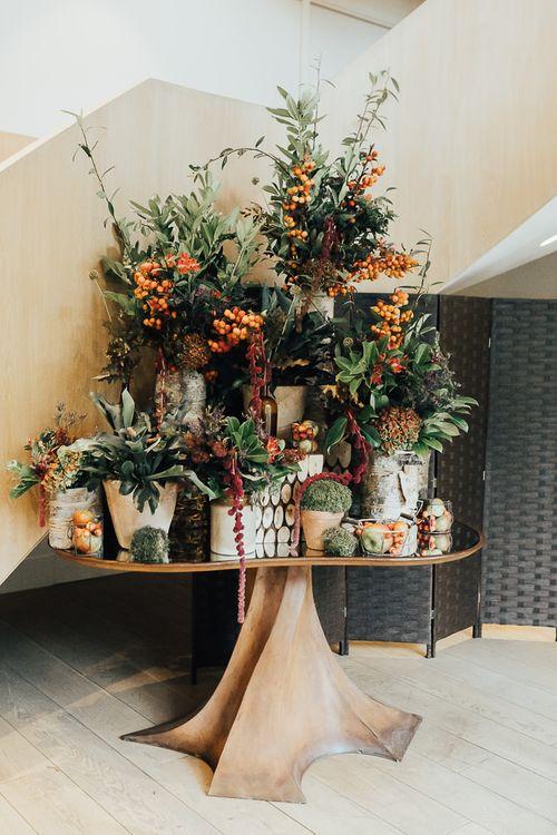 Plant floral arrangement at Coworth Park