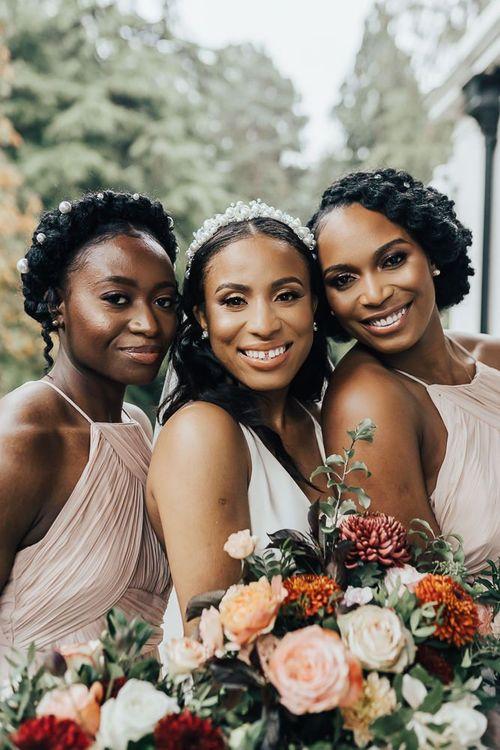 Beautiful bridal party hair and makeup