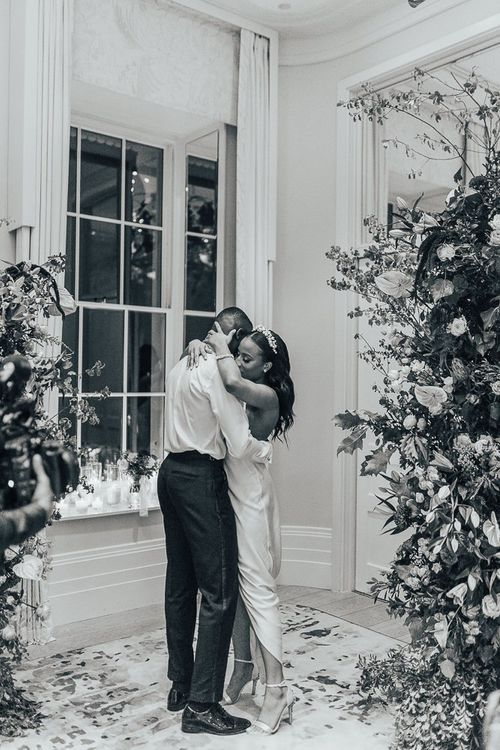 Bride and groom first dance at Coworth Park
