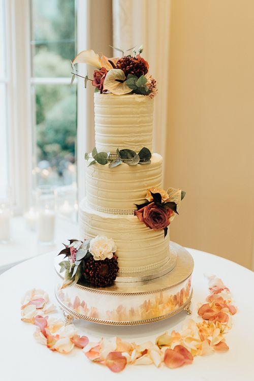 Buttercream wedding cake at Coworth Park