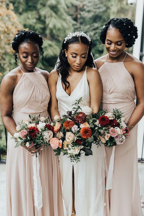 Autumanl bridesmaid bouquets