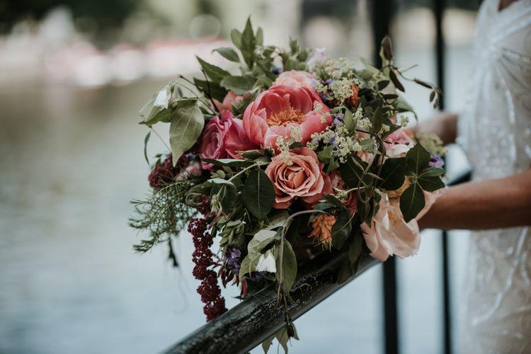 Rose & Peony Wedding Bouquet // Image By Jamie Mac Photography