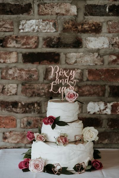 Perspex Cake Topper For Wedding Cake // Image By Jamie Mac Photography