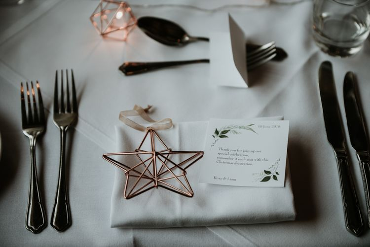 Christmas Decoration Wedding Favour // Image By Jamie Mac Photography