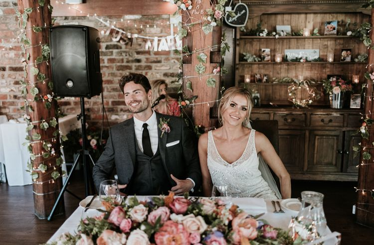 Sweetheart Table For Wedding Reception // Image By Jamie Mac Photography