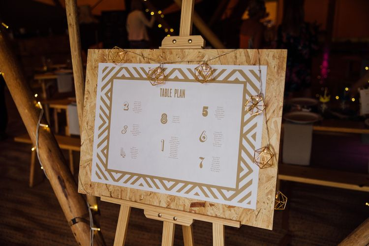 Table Plan | Outdoor Wedding Ceremony & Tipi Reception Planned by Benessamy Events | Red on Blonde Photography