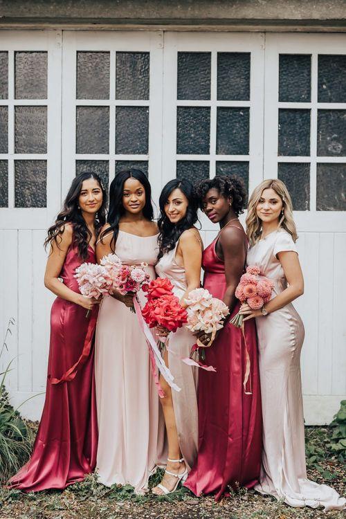 Constellation Âme pink bridesmaid dresses