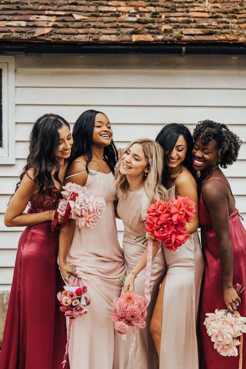 Fun bridesmaid portrait by Rebecca Carpenter Photography
