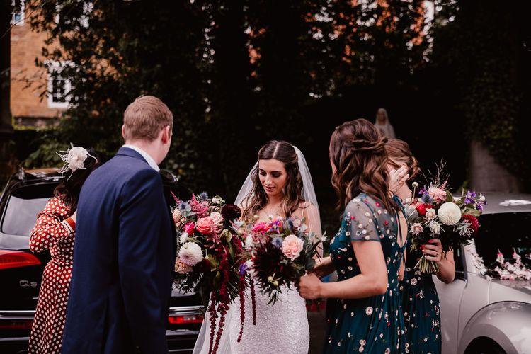 Bride Carries Pink Bouquet For Primrose Hill Farm Wedding