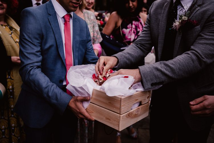 Pink Confetti For Primrose Hill Farm Wedding