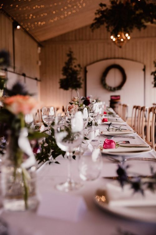 Table Decorations With Pink Flowers