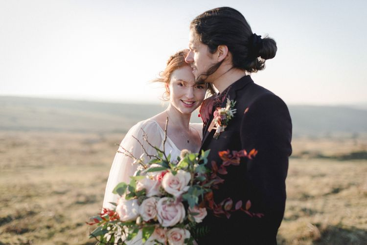 Poldark Inspired Wedding In Cornwall With Celtic Influences Dress By Ailsa Munro And Images From The Salt & Sea Photography Co.