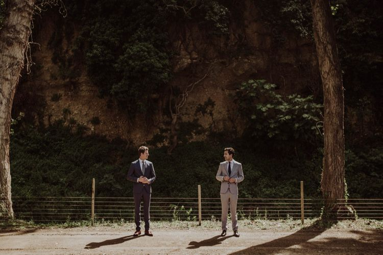 Two Grooms | Woodland Wedding at Sa Farinera de Sant LLuis Wedding Venue, Catalan Empordà, Spain | Planned & Styled by Mille Papillons | HUMà06 Photography | HUMà06 Photography