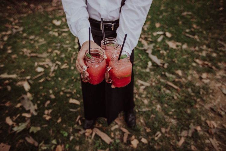 Welcome Drinks Reception | Outdoor Woodland Wedding at Sa Farinera de Sant LLuis Wedding Venue, Catalan Empordà, Spain | Planned & Styled by Mille Papillons | HUMà06 Photography | HUMà06 Photography