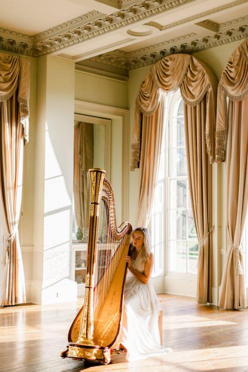 Harpist at Prestwold Hall