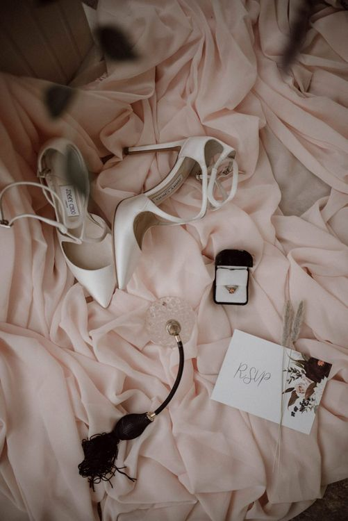 Wedding Ring, Perfume and Shoes Bridal Accessories