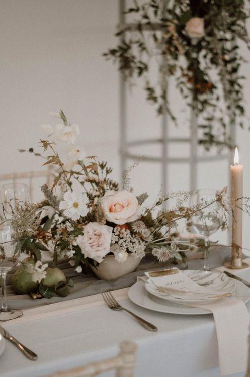 Elegant  Floral Arrangement Table Centepiece