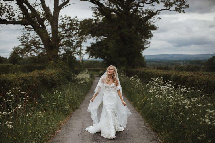 Bride In Emma Beaumont Bespoke Wedding Dress