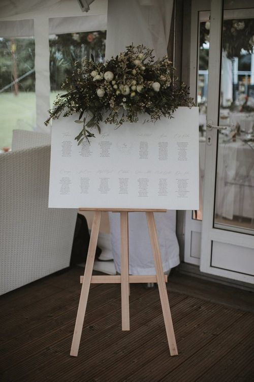 Table Plan With Foliage Decor