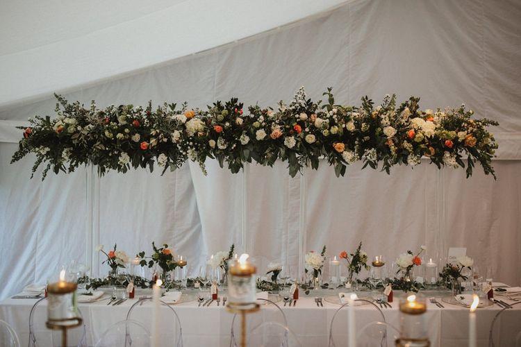 Wedding Flowers Installation for Reception