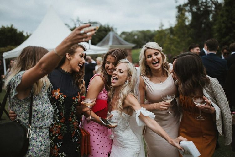 Bride Enjoys Herself With Guests