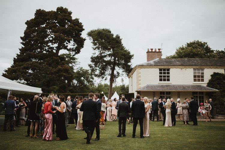 Groom's Family Home Wedding With Marquee