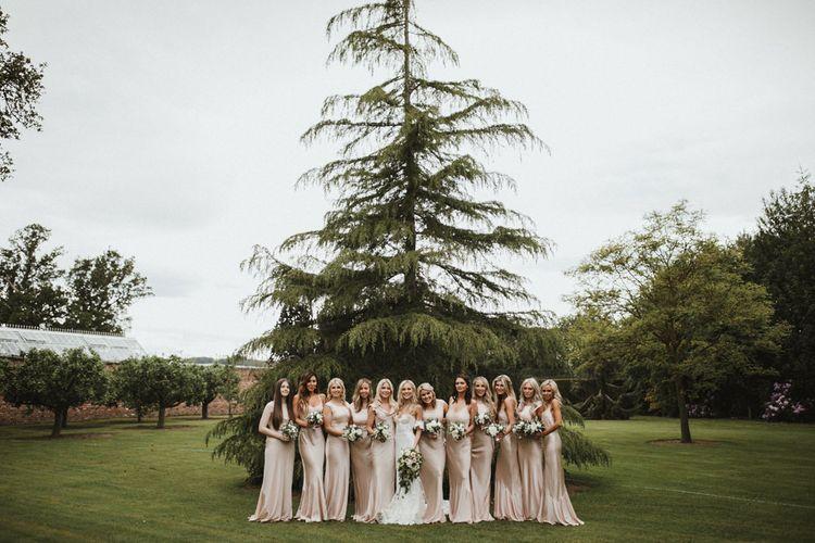 Beautiful Bridesmaids In Pink Ghost Bridesmaid Dresses