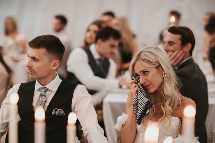 Bride and Groom Get Emotional During Speeches