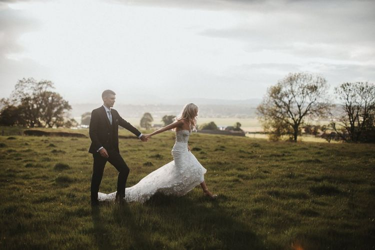 Bride and Groom In Welsh Countryside