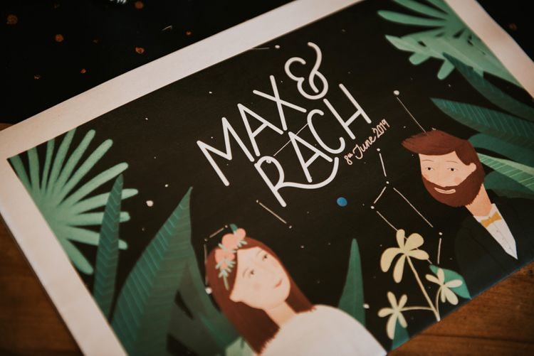 Wedding stationery designed by the bride