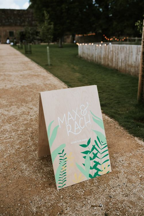 Wedding signs designed by the bride