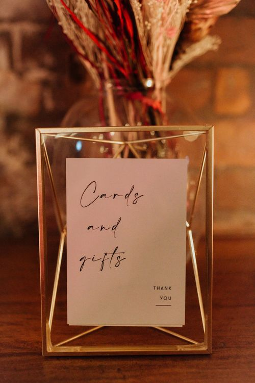 DIY wedding signs for a glam party celebration in December