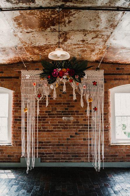 Macrame Backdrop For Wedding // ImageBy Carla Blain Photography