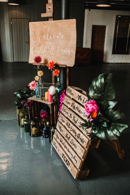 Welcome Sign For Wedding // ImageBy Carla Blain Photography