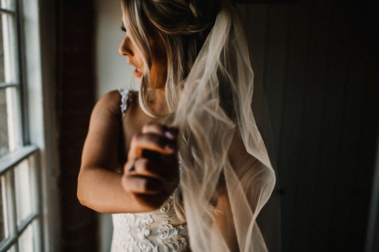 Barely There Veil For Bride // ImageBy Carla Blain Photography