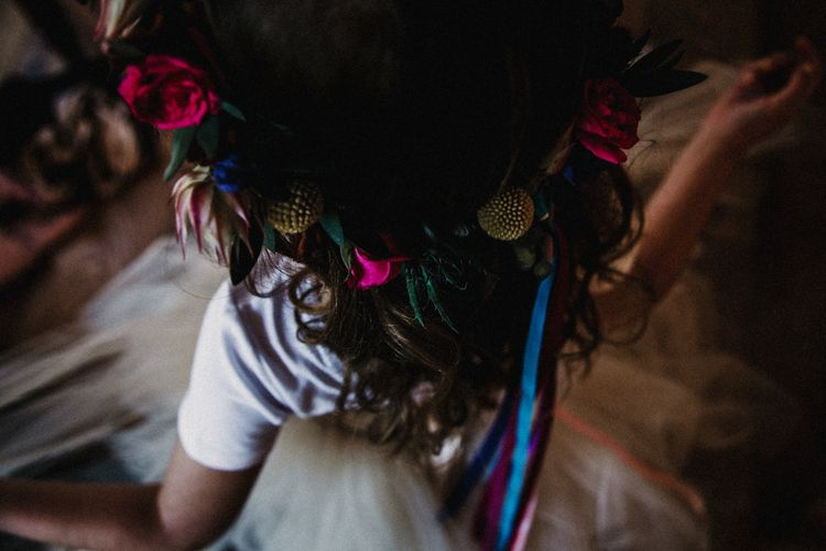 Flower Crown For Flower Girl // Image By Carla Blain Photography