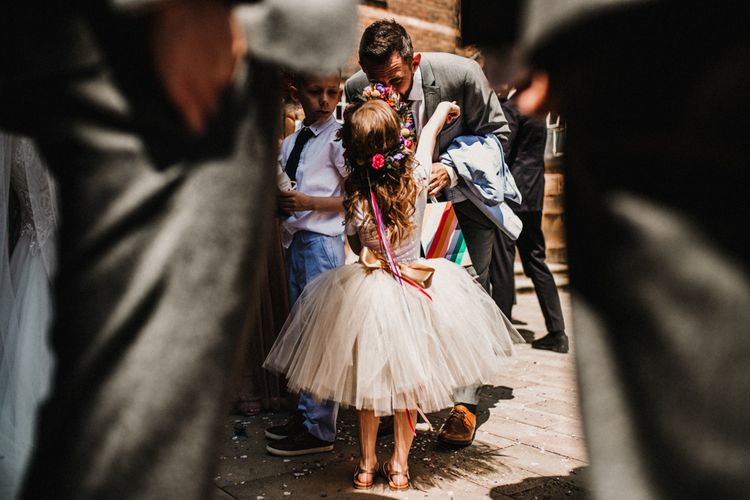 Flower Girl In Tutu // Images By Carla Blain Photography
