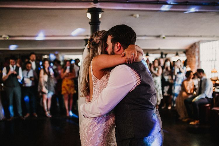 First Dance Couple Portrait By Carla Blain