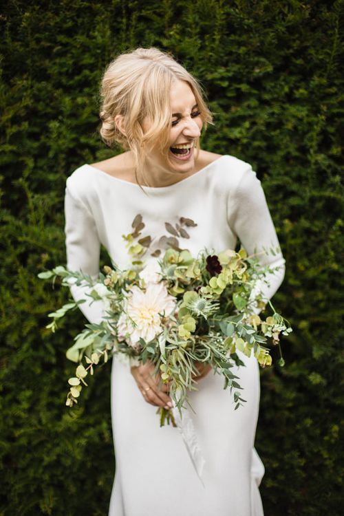 Minimal Wedding Dress By Pronovias // Image By Chris Barber Photography